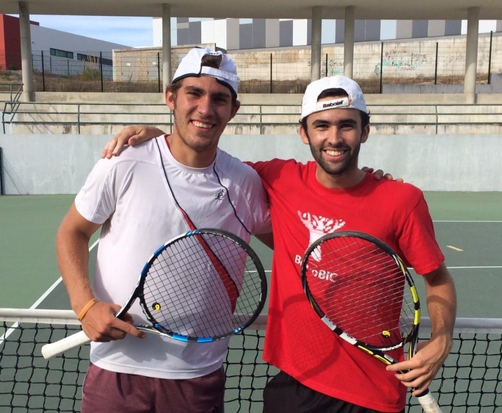 Pedro Gabriel, José Campos and Victor Poncelet compete in ITF Futures in Algarve