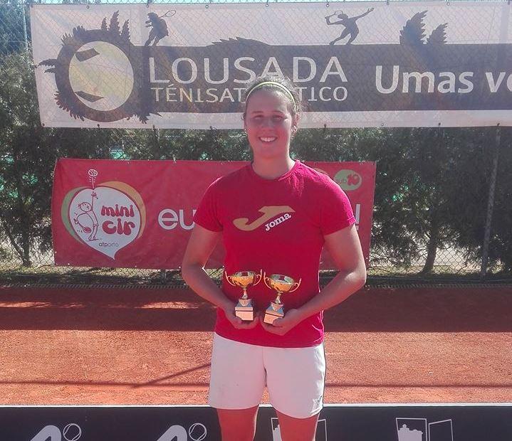 Lucia Quitério vence torneio em singulares e pares de sub-18 nivel B na Lousada