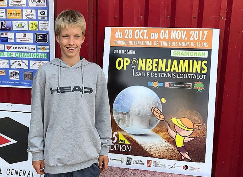 "Patrick Schoen wins famous tournament ""Benjamins Gradignan U12"""